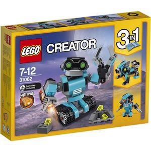 ASSEMBLAGE CONSTRUCTION LEGO® Creator 31062 Le Robot explorateur