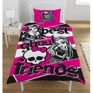 monster high parure de lit 1 personne achat vente parure de couette cdiscount. Black Bedroom Furniture Sets. Home Design Ideas