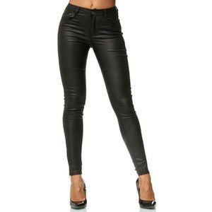 PANTALON Dames Treggings Pantalon Cuir Optique Cuir Imitati