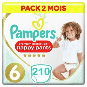 COUCHE PAMPERS Premium Protection Pants Taille 6 (+15kg)