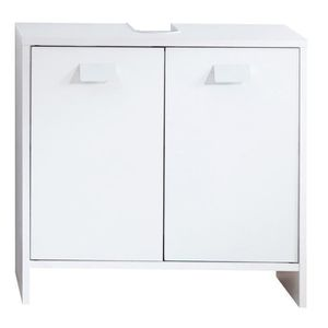 Maisonnerie 1320-301-01 Nightlife Meuble sous Lavabo Blanc//Blanc Ultrabrillant LxHxP 65 x 63 x 35 cm