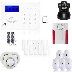 ALARME AUTONOME Alarme maison sans fil GSM et box ADSL avec caméra