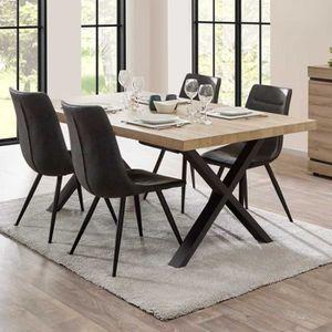 TABLE À MANGER SEULE Table de repas 200 cm Chêne naturel - COURTRAI - L
