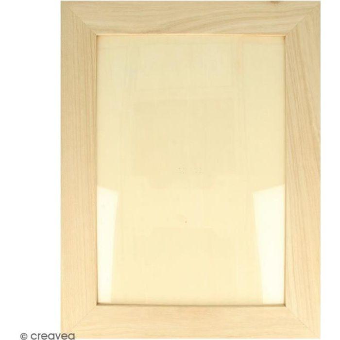 Cadre photo en bois à décorer - 28 x 36 cm