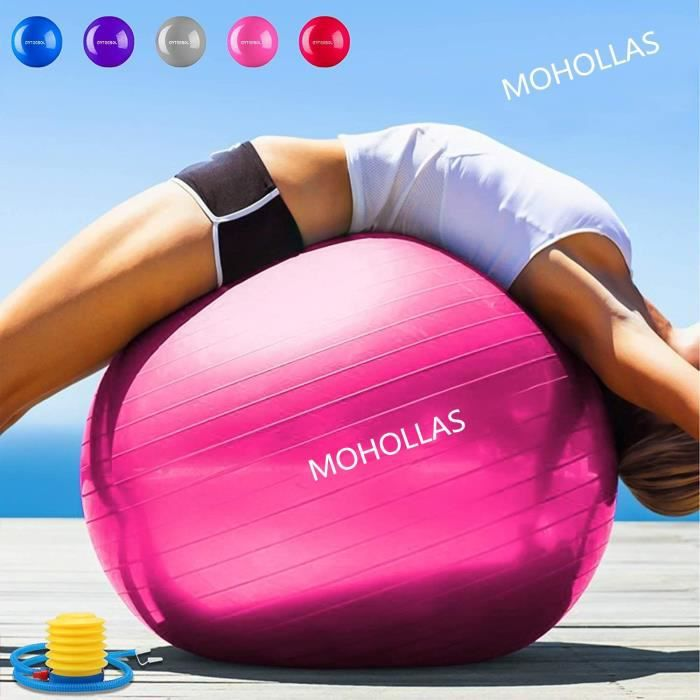 Balle Fitness 75 cm Anti-éclatement Anti-dérapant Yoga Swiss Ball Accouchement Balle Rapide Pompe Fitness Gym Yoga