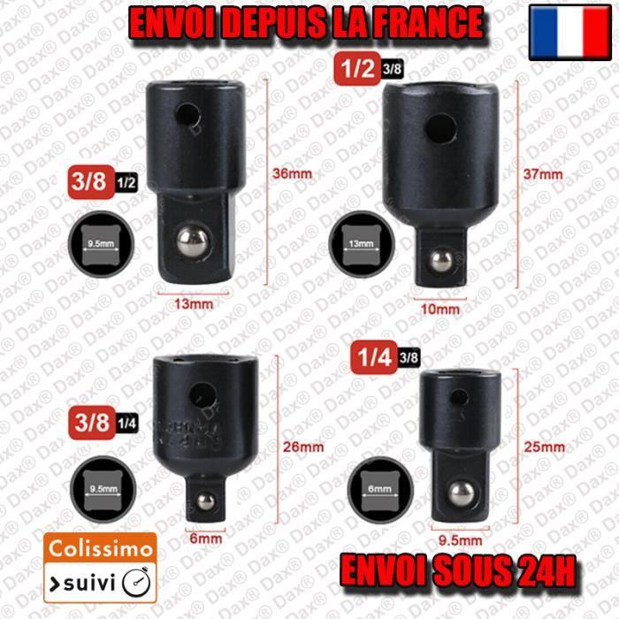 4 Adaptateurs pour douilles 1/2- 1/4- 3/8- voiture outil BS1
