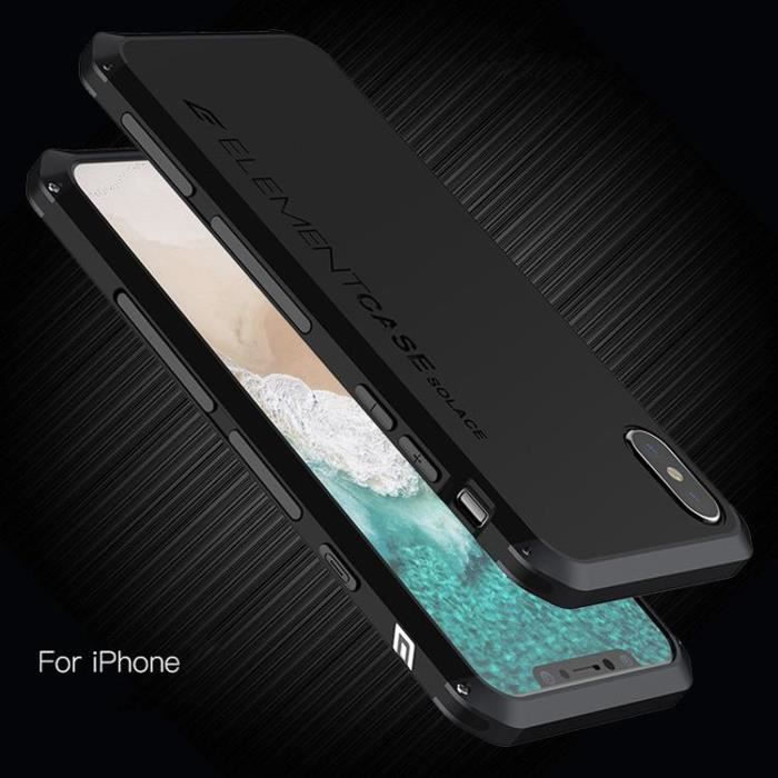 Coque Aluminium Anti-choc Case Solace Extreme Pour iPhone X / XS