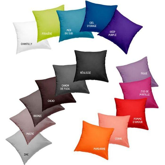 Coussin garni déhoussable - 40 x 40 cm - Today - Différents coloris Réglisse