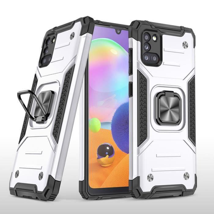 Coque Support Bumper TPU Pour Samsung Galaxy A31 6.4- : Bumper Blanc