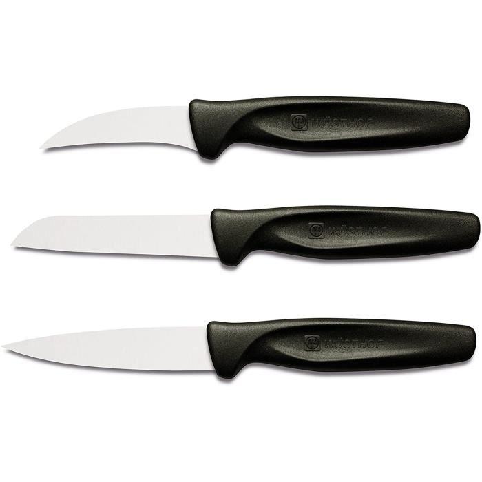 TR9332 Colors Set de 3 Couteaux avec Manche Noir[535]
