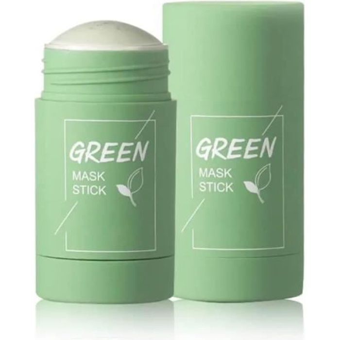 Green Tea Purifying Clay Face Mask Stick Deep Cleansing Oil Control Anti-Acne Solid Mask,Deep Cleaning Moisturizing