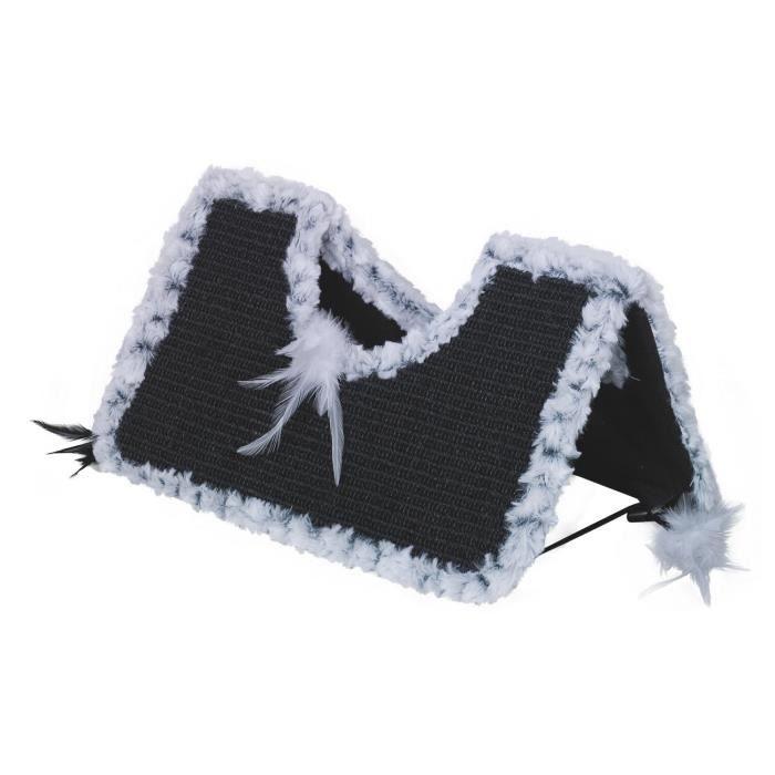 Nobby Greffoir Forme Toit pour Chat Gris-Noir 44 x 22 x 20 cm