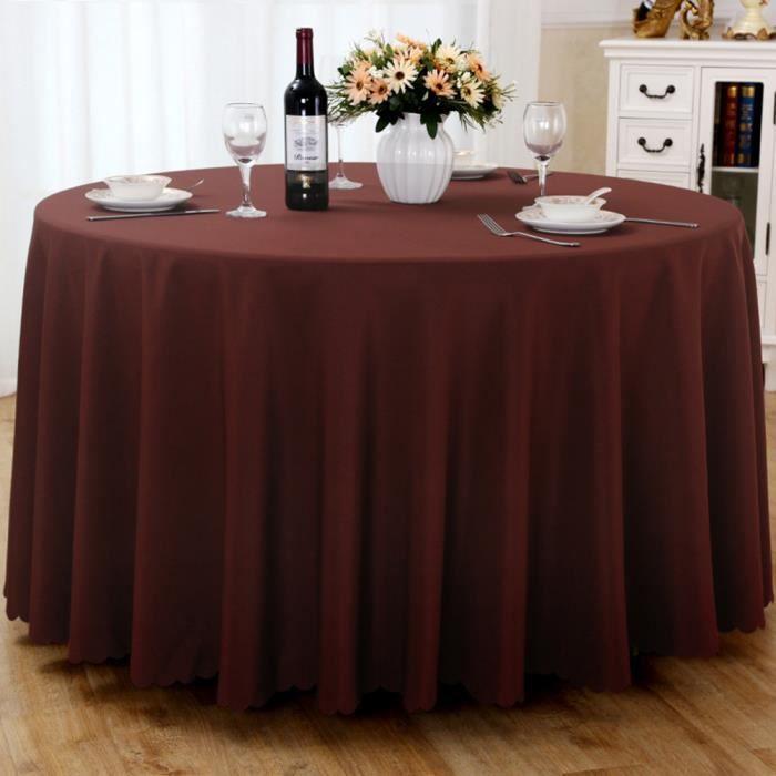 Nappe de table, Nappe ronde, Nappe ronde 240 cm, Nappe ronde antitache, Nappe exterieur table ronde - Cafe