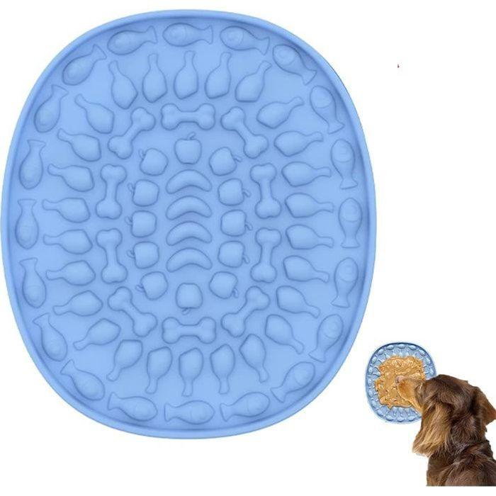 Tapis de léchage pour chien,Chien de Lécher Coussin de Bain et spatuleTapis de Lécher en Silicone à Alimentation Lente avec Ventouse