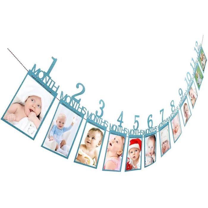 Maquillage de déguisement Bébé Enfants Anniversaire Cadeau Décorations 1-12 Mois Photo Bannière Mensuelle Photo Mur Mura 90705