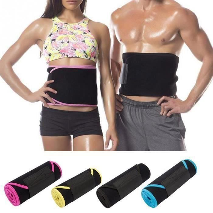 Rn Réglable Taille Tummy Trimmer Minceur Sweat Ceinture Fat Burn Shaper Wrap Band Exercice de perte de poids Hommes Femmes Rose XL