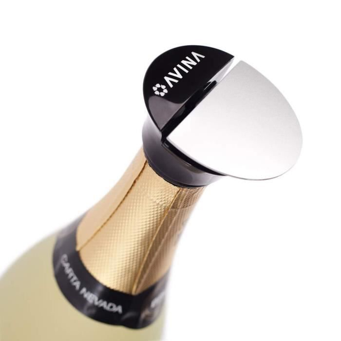 Avina Bouchon de champagne Prosecco, permet de conserver les bulles des vins gazéifiés, pas de fuite, pas d'éclaboussures, pas de