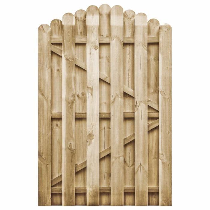 Excellent Qualité :) Portail de jardin Classique - Portillon de Clôture Bois de pin imprégné 100x150 cm &38042&