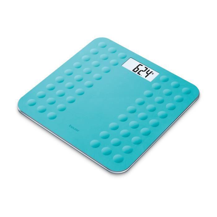 BEURER GS300 Pèse-persone avec surface en silicone antiglisse - Turquoise
