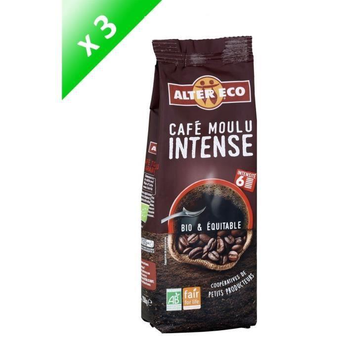 [LOT DE 3] ALTER ECO Café moulu intense - 3 x 250g