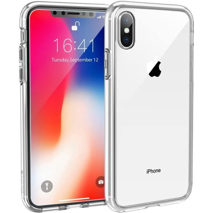 Coque Compatible avec iPhone X et iPhone XS, Ultra Transparente Silicone en Gel TPU Souple Coque de Protection Anti Choc