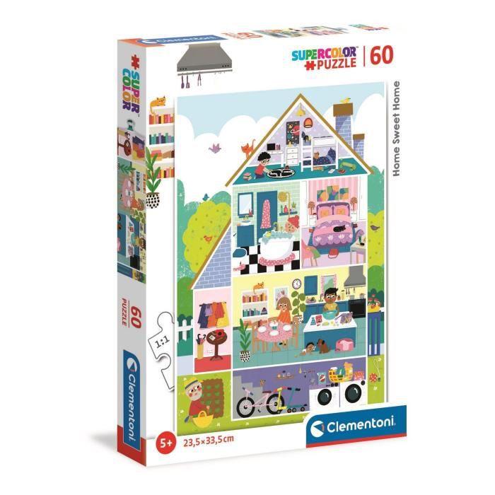 Clementoni - 26062 - SuperColor 60 pièces - My home