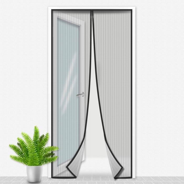 Porte Moustiquaire 100x215 cm Noir