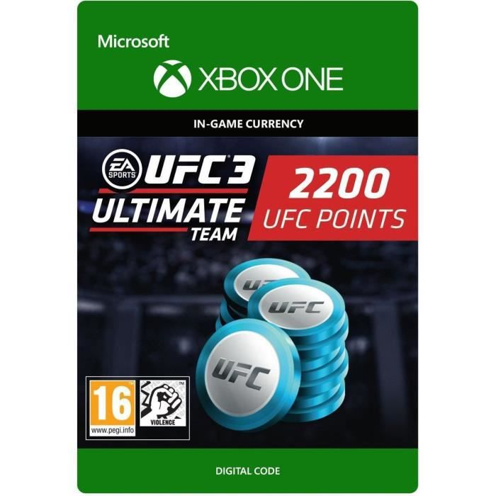 DLC UFC 3: 2200 UFC Points pour Xbox One