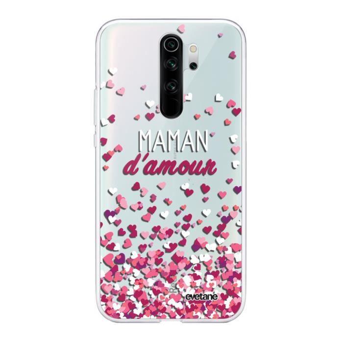Coque Xiaomi Redmi Note 8 Pro 360 intégrale transparente Maman damour Ecriture Tendance Design Evetane