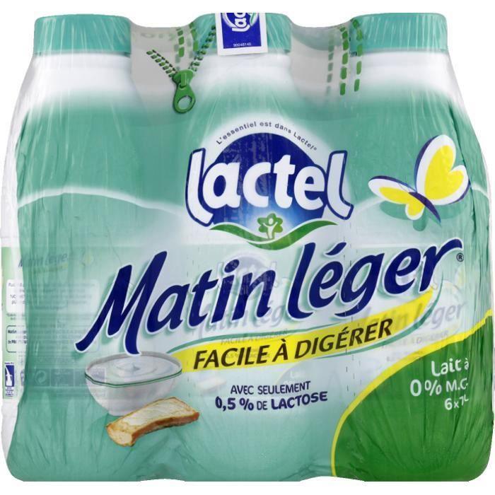 Lactel matin léger lait écrémé 6x1L