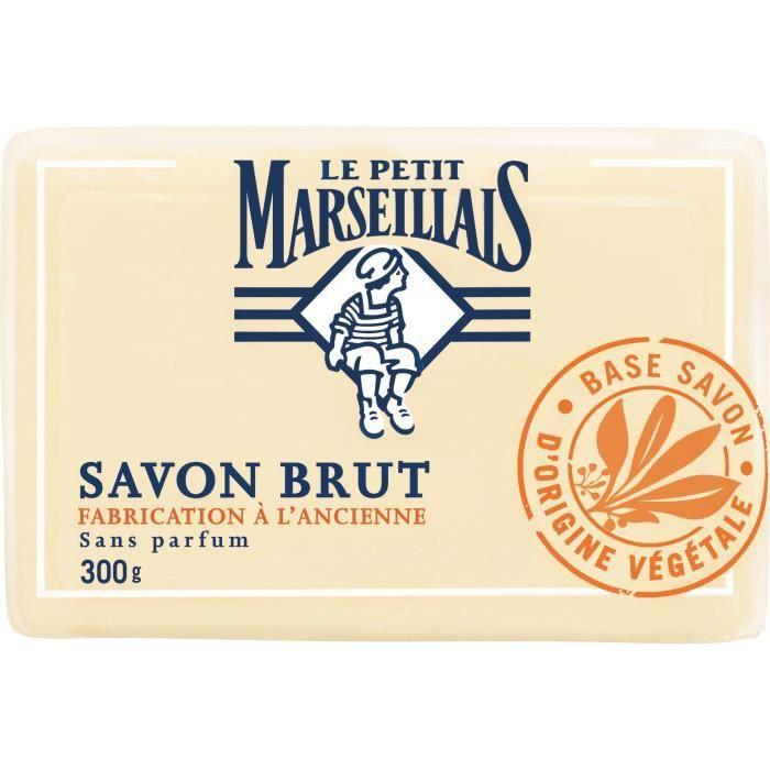 LE PETIT MARSEILLAIS Savon solide brut - Fabrication ancienne - Sans parfum - 300 g