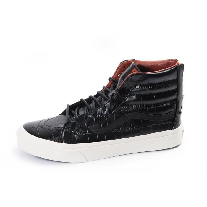 VANS Chaussures Sk8-Hi Slim Zip Croc Leather Femme