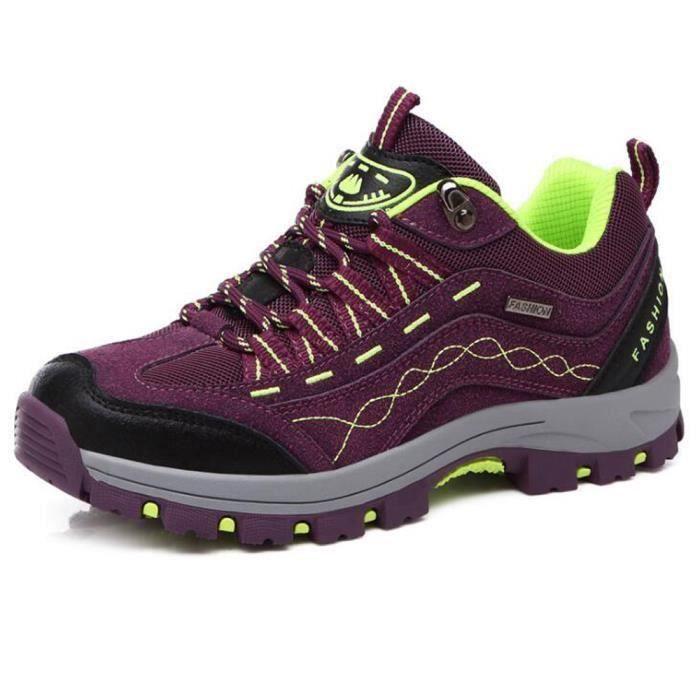 Jungle Chaussures Femme Violet Marche Randonnée Marche Respirant Quotidien Sport