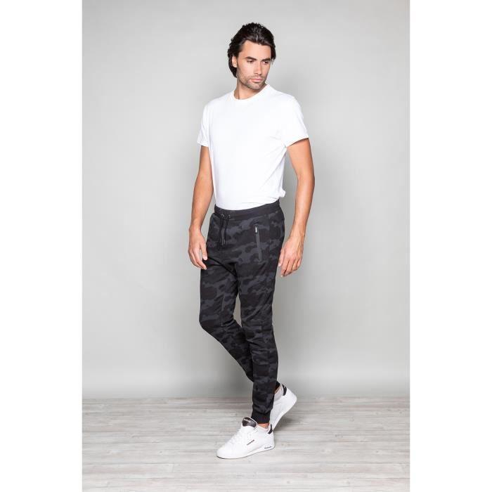 STRIPHTML(Pantalon de jogging camouflage RUN - Couleur - Black, Taille - L)