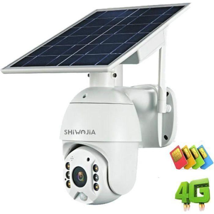 4G 1080P panneau solaire caméra étanche sécurité PTZ Surveillance intelligente ferme Ranch forêt longue veille