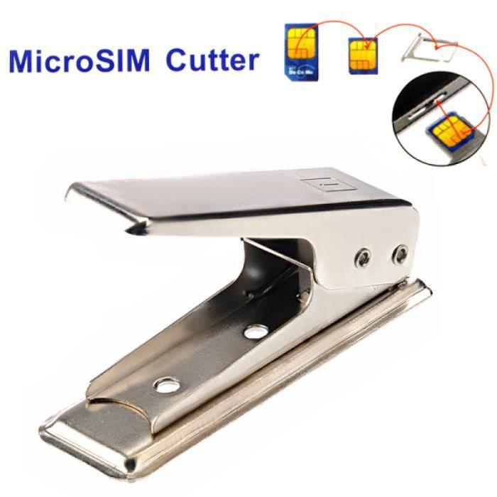 1Pc SIM Cutter Utilitaire Pratique Portable Exquis Coupe-Carte Durable Délicat ORDINATEUR TOUT-EN-UN