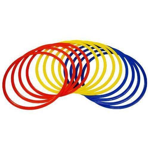 Precision Training Cerceaux d`agilité Rouge/Jaune/Bleu 45 cm