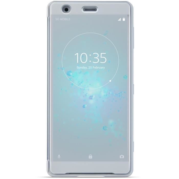 Sony Style Cover Touch pour XZ2 Silver