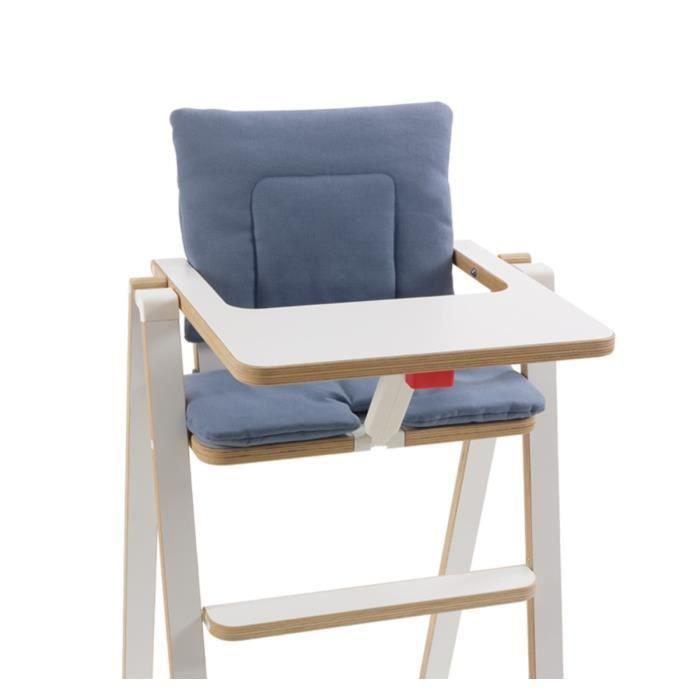 SUPAFLAT Coussin de chaise haute blue velvet