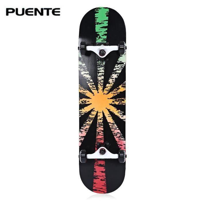 SWAREY PUENTE skate-board Planches à roulettes Cool élégant - Rouge / Vert