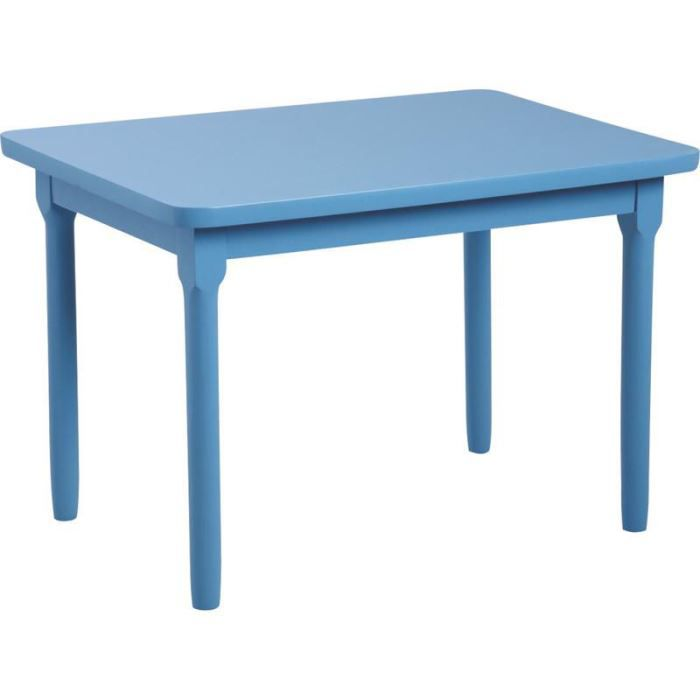 table pour enfant en h tre laqu bleu ciel 60x4 achat vente table et chaise 3238920722062. Black Bedroom Furniture Sets. Home Design Ideas