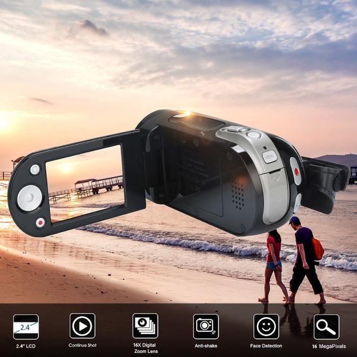 APPAREIL PHOTO RÉFLEX Caméscope HD Zoom numérique avec appareil photo nu