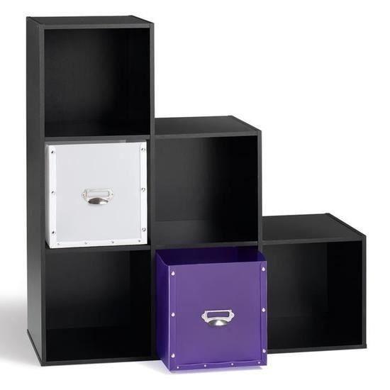 PETIT MEUBLE RANGEMENT  meuble escalier en bois noir meuble de rangement e