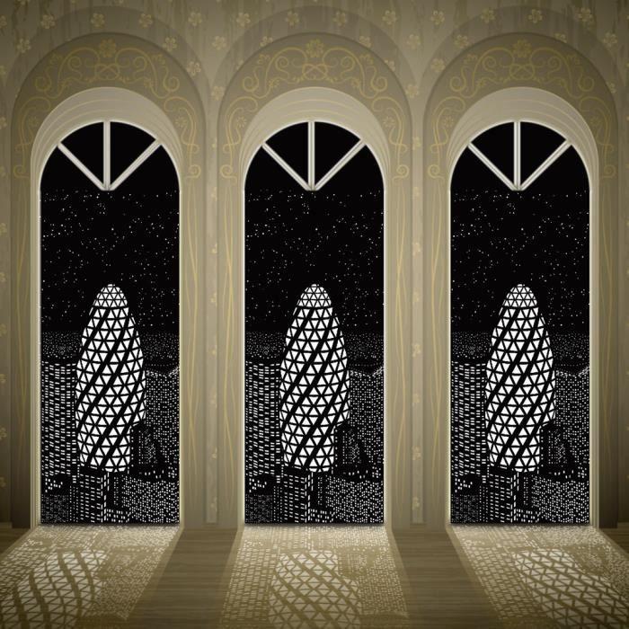 Blackout Holeroll Rideaux Avec Des Trous Incroyable Ville Designs Rideau Chambre B At Yinmgmhj1737