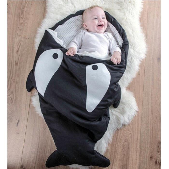 GIGOTEUSE - TURBULETTE  bébé sac de couchage Requin GIGOTEUSE  Noir