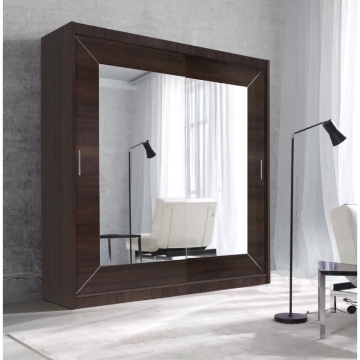 super prix garde robe coulissante miroir ref f1518. Black Bedroom Furniture Sets. Home Design Ideas
