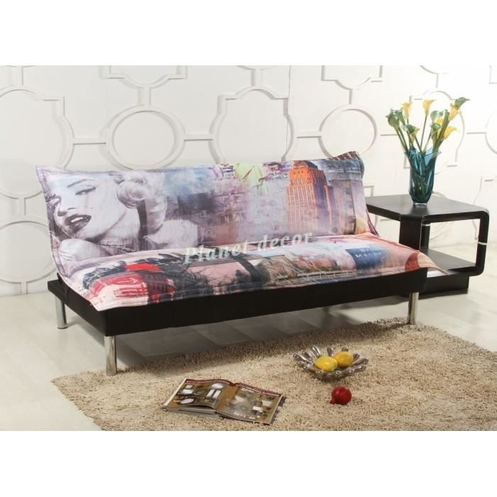 canap clic clac design marilyn achat vente clic clac. Black Bedroom Furniture Sets. Home Design Ideas