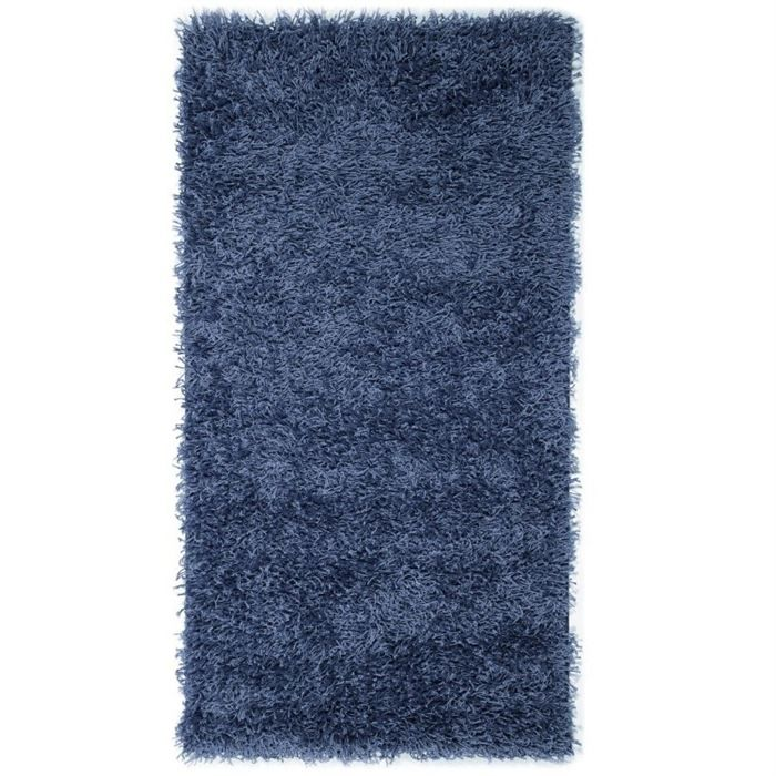 tapis shaggy descente de lit longue m che bleu achat. Black Bedroom Furniture Sets. Home Design Ideas