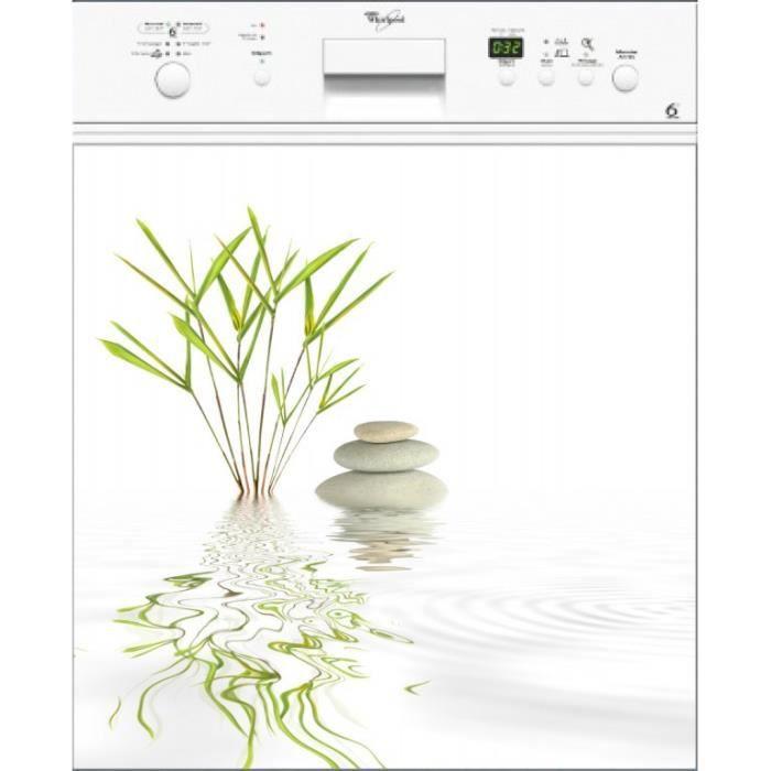 Sticker Lave vaisselle REPOSITIONNABLE déco Désign 60x60cm Réf 188