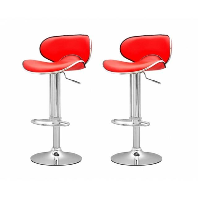 tabouret de bar rouge x 2 elite achat vente tabouret. Black Bedroom Furniture Sets. Home Design Ideas